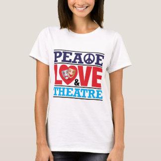 Camiseta Paz, amor e teatro