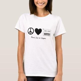 Camiseta Paz, amor e vales