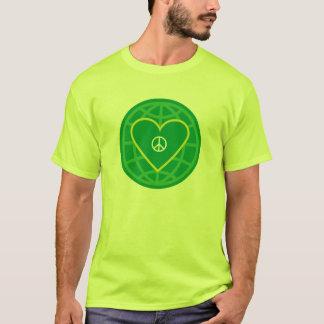 Camiseta Paz & amor em torno do mundo