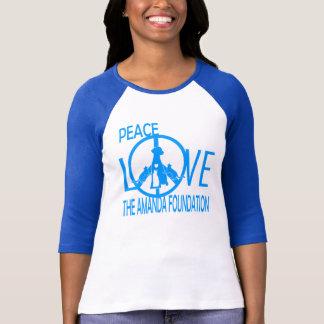 Camiseta Paz, amor, fundação de Amanda