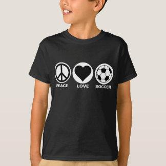 Camiseta Paz/amor/futebol