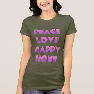 Camiseta Paz, amor & happy hour