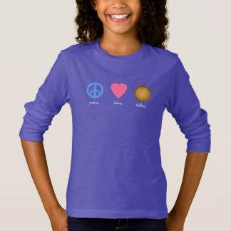 Camiseta Paz - amor - Latkes