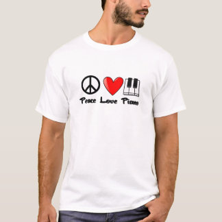 Camiseta Paz, amor, piano