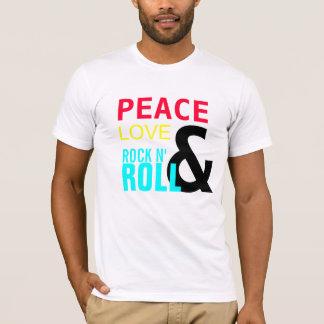 Camiseta PAZ, AMOR, &, ROLO da ROCHA N',