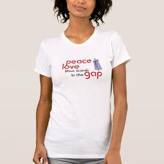 Camiseta paz, amor, standsin de Jesus a diferença