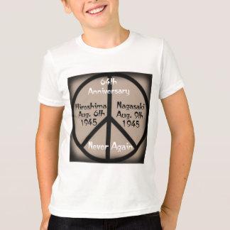 Camiseta Paz de Hiroshima-Nagasaki em nosso tempo