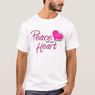 Camiseta Paz de meu t-shirt do coração com design traseiro