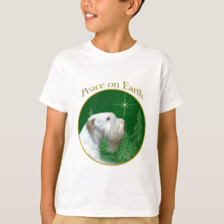 Camiseta Paz de Sealyham Terrier na terra