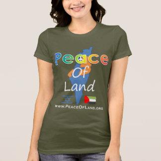 Camiseta Paz de t da cor escura da mulher da terra