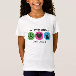 Camiseta Paz do Queens da xadrez