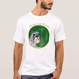Camiseta Paz do Schnauzer padrão