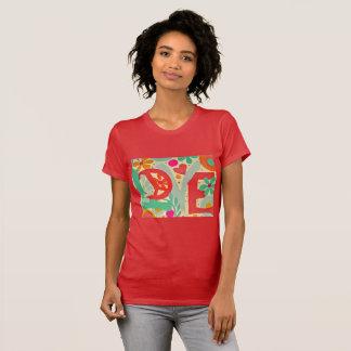 Camiseta Paz do tshirt do amor