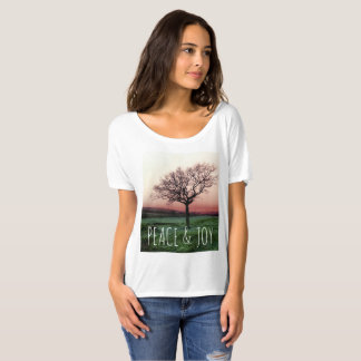 Camiseta Paz e alegria, Tshirt customisable com uma árvore