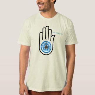 Camiseta Paz e amor, Ashima, não-violência, veganismo,
