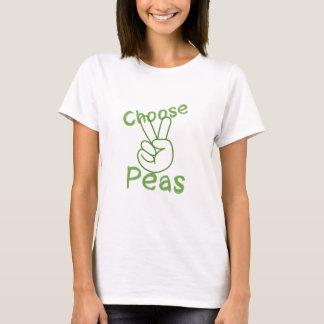 Camiseta paz e ervilhas