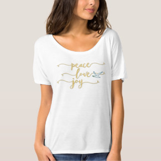 Camiseta Paz na pomba colorida da paz da aguarela   da