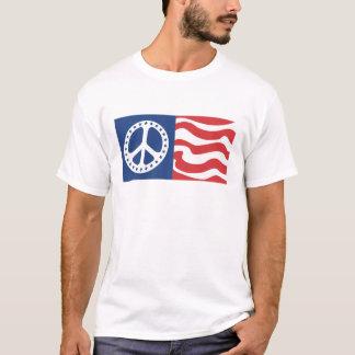 Camiseta Paz ondulada do molho