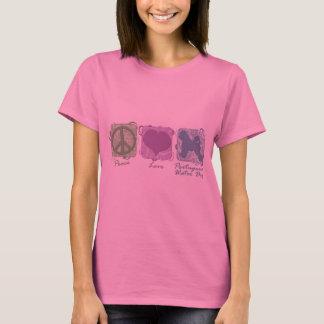 Camiseta Paz Pastel, amor, e cães de água portugueses
