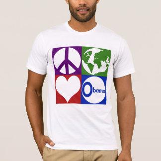 Camiseta Paz, terra, amor, t-shirt de Obama
