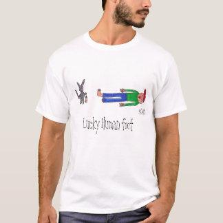 Camiseta Pé humano afortunado