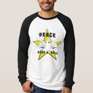 Camiseta Peace and rock n roll