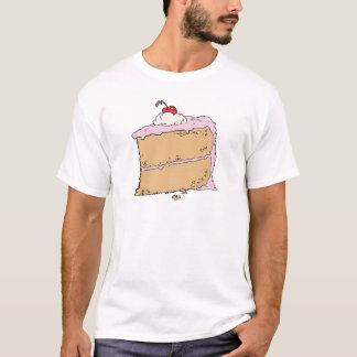 Camiseta pedaço de bolo saboroso