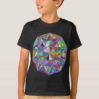 Camiseta Pedra de gema tirada Kaleidescope colorida