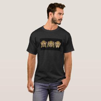 Camiseta Peekaboo do macaco de Emoji