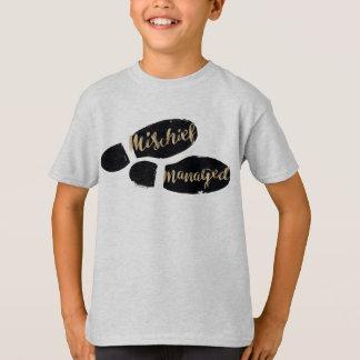Camiseta Pegadas controladas prejuízo do mapa de Harry