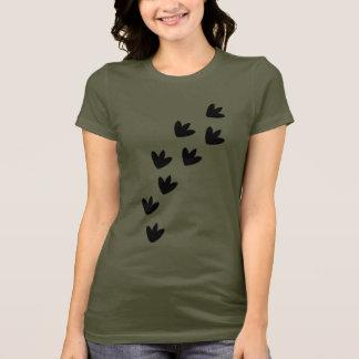 Camiseta Pegadas do dinossauro