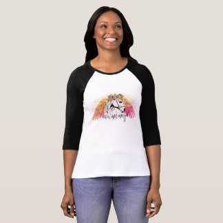 Camiseta Pegasus 3/4 de t-shirt da luva
