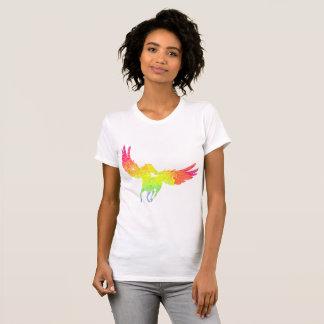 Camiseta Pegasus colorido no t-shirt da mulher