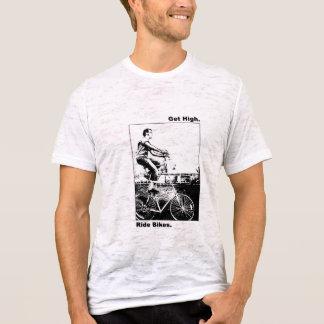 Camiseta pegue bicicletas altas do passeio