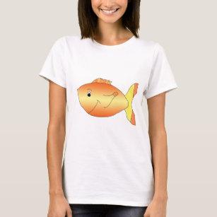 Camiseta Peixe dourado amarelo e alaranjado d933f12cbe382