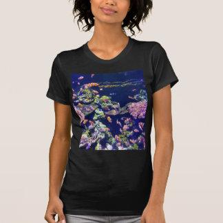 Camiseta Peixes alaranjados subaquáticos do palhaço em