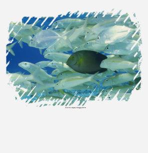 Camiseta Peixes amarelos do cirurgião com o peixe dourado 6a1e7c8659004