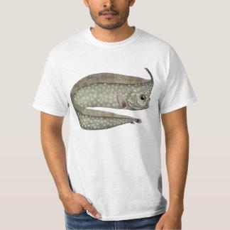 Camiseta Peixes com crista do Oarfish do vintage, vida
