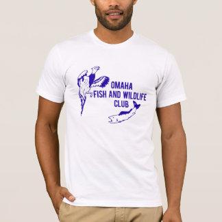 Camiseta Peixes de Omaha do vintage e clube dos animais