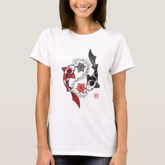 Camiseta Peixes de Yin e de Yang Koi