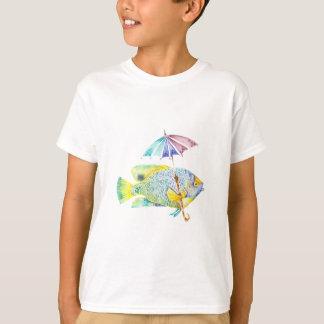 Camiseta Peixes do anjo com guarda-chuva