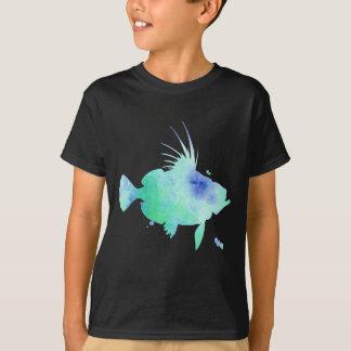 Camiseta peixes do aqua das impressões do oceano