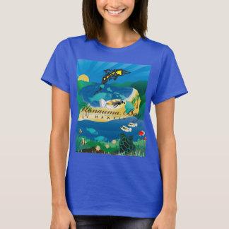 Camiseta Peixes do papagaio de Oahu Havaí da baía de