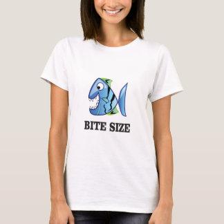 Camiseta peixes do tamanho da mordida