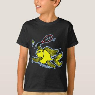 Camiseta Peixes do tênis, peixes que jogam o tênis