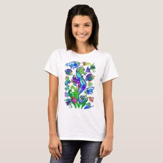 Camiseta Peixes exóticos & cavalos marinhos da vida marinha