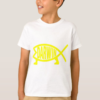 Camiseta Peixes originais de Darwin (amarelo)