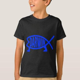 Camiseta Peixes originais de Darwin (azuis marinhos)