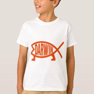 Camiseta Peixes originais de Darwin (laranja de néon)