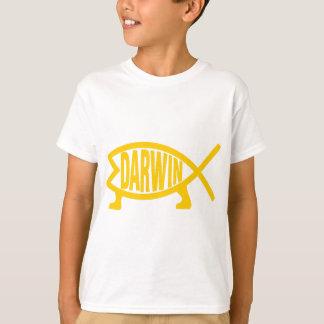 Camiseta Peixes originais de Darwin (mostarda)